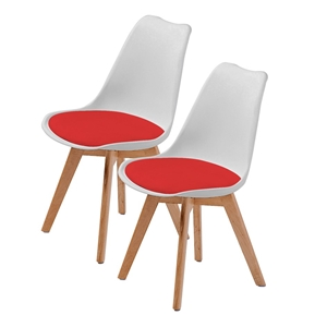 Replica Eames PU Padded Dining Chair - W