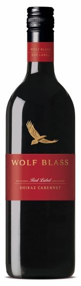 Wolf Blass Red Label Shiraz Cabernet 2018 (6 x 750mL), SE AUS.
