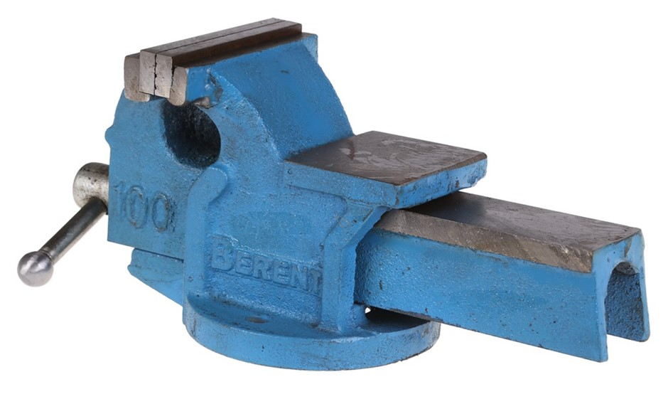 BERENT 100mm Bench Vice with Anvil. Buyers Note - Discount Freight Rates Ap