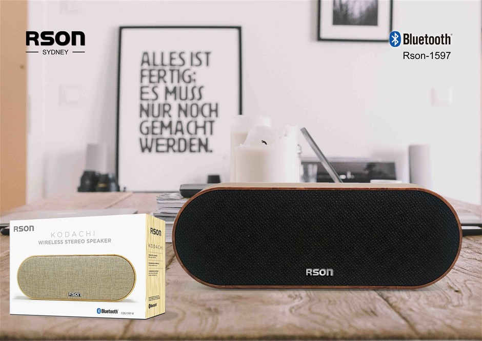 Rson Kodachi Walnut Wireless Speaker (1597)