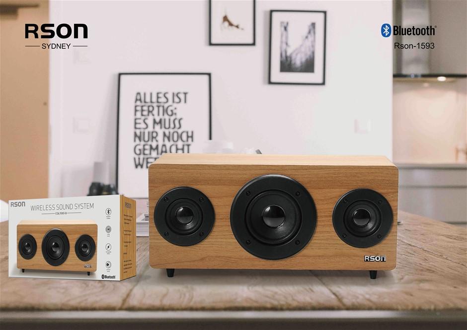 Rson 2.1 Old School Wooden Bluetooth Speaker (1593)
