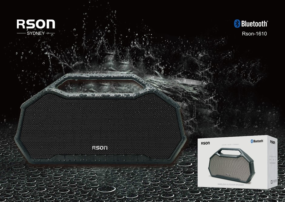 Rson Outdoor Grey Box Pile Bluetooth Speaker (1610)