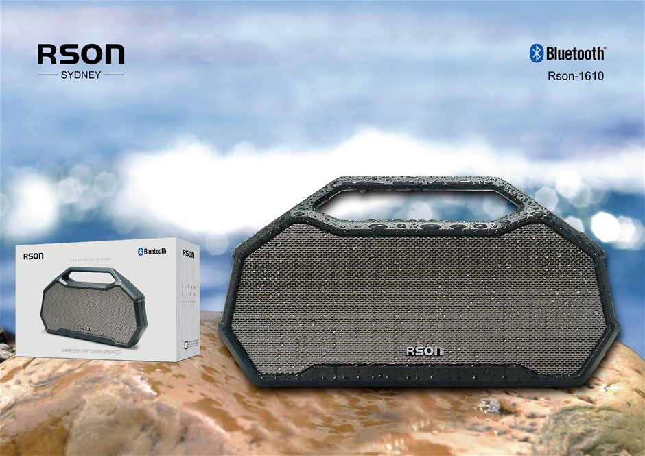 Rson Outdoor Silver Box Pile Bluetooth Speaker (1610)