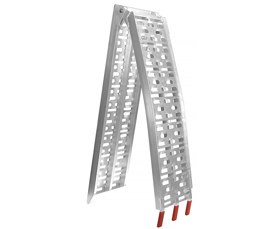 Heavy duty aluminium ramp: 340kg load capacity.