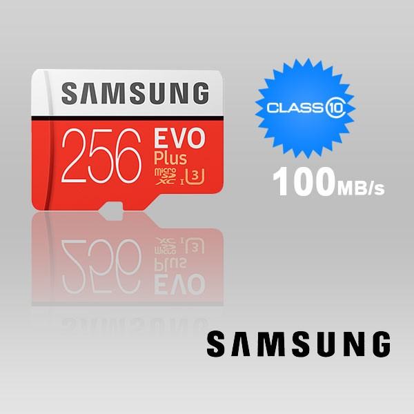 Samsung 256GB UHS-I Plus EVO CLASS 10 U3 4K without SD ADAPTER 100R/90W