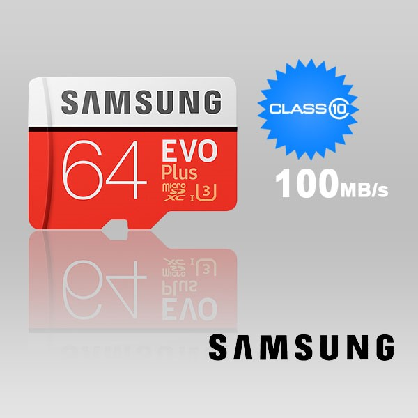 Samsung 64GB UHS-I Plus EVO CLASS10 U3 4K Without ADAPTOR 100R/60W MB-MC64G