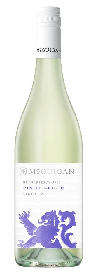 McGuigan `Bin 5000` Pinot Grigio 2017 (6 x 750mL), VIC.