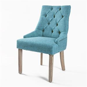 French Provincial Oak Leg Chair AMOUR -