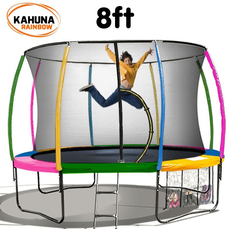 Kahuna Trampoline 8 ft - Rainbow