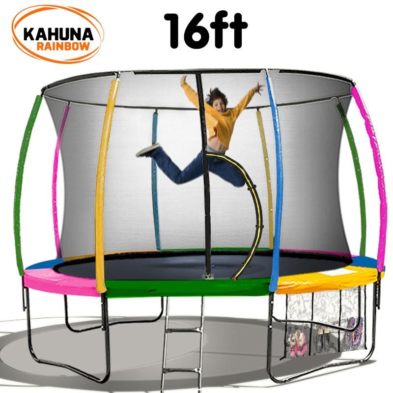 Kahuna Trampoline 16 ft - Rainbow