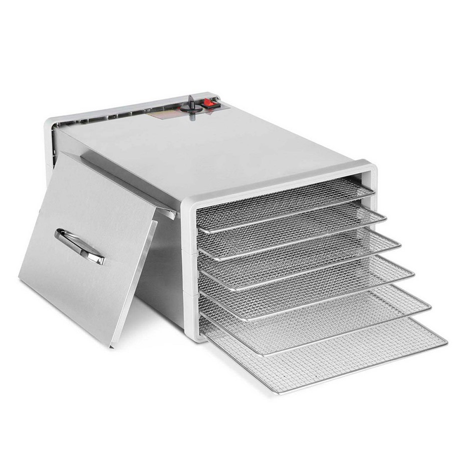 Devanti Stainless Steel Food Dehydrator with 6 Trays