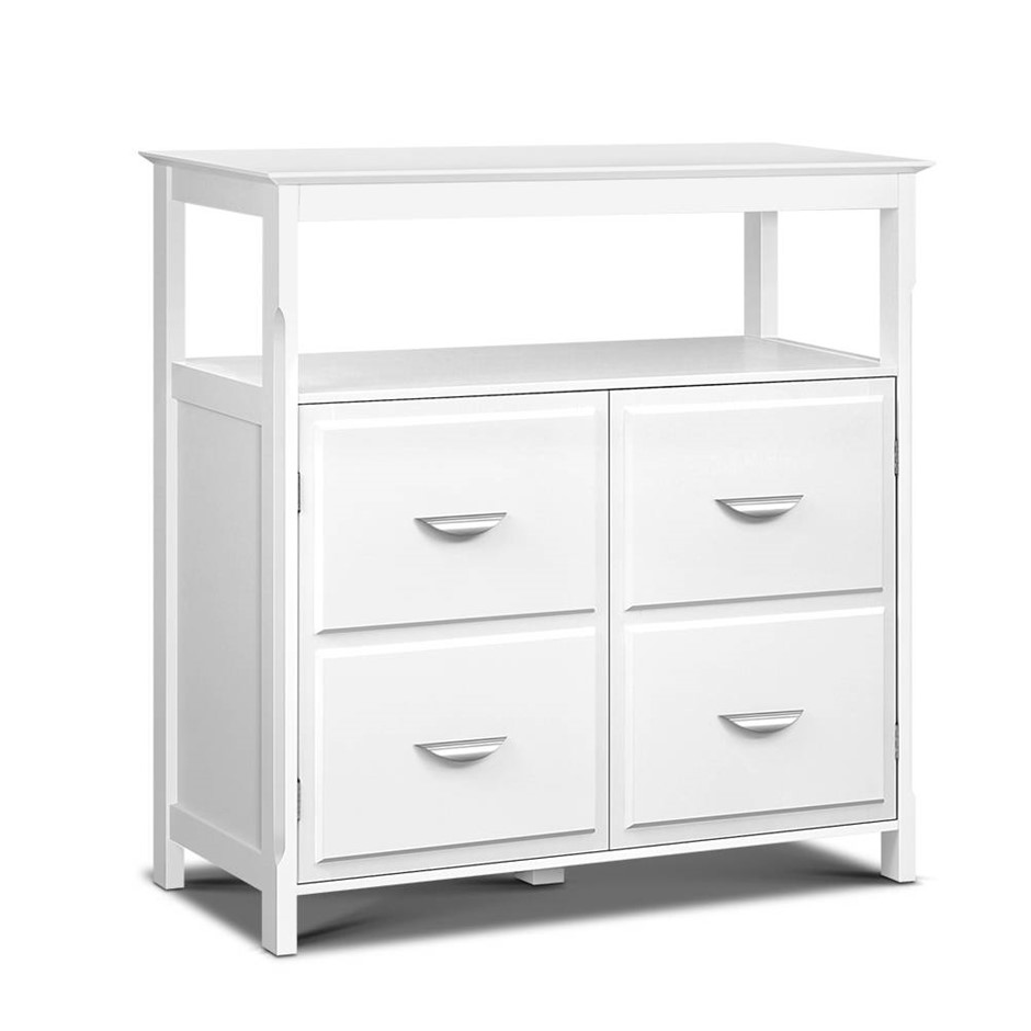 Artiss Kitchen Storage Buffet with Shelves - White