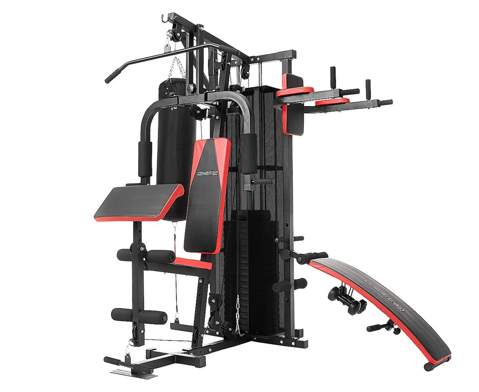 Powertrain Multi-Station Home Gym - with Punching Bag