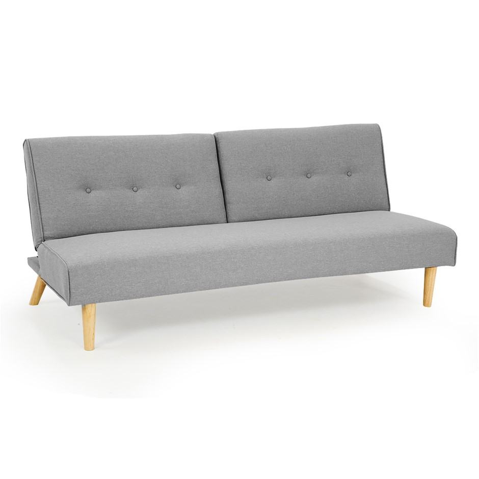 3 Seater Modular Linen Fabric Sofa Bed Couch Lounge Futon Light Grey