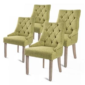 4 x French Provincial Oak Leg Chair AMOU