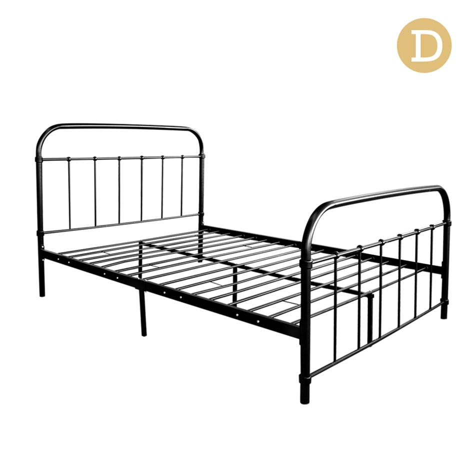 Artiss Double Size Metal Bed Frame Black