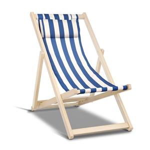 Artiss Fodable Beach Sling Chair - Blue