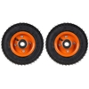 2 x Pneumatic Tyres Wheels 200mm dia 20mm Centre. Buyers Note - Discount Fr