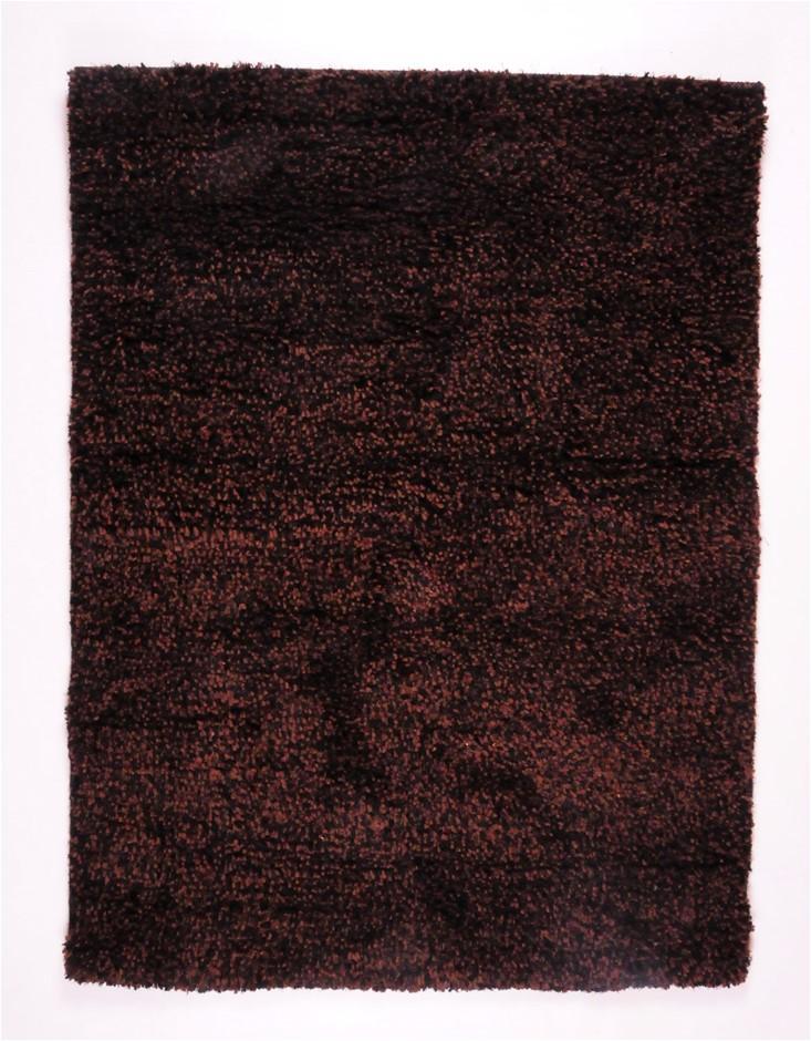 Vegas Wool Rug Black