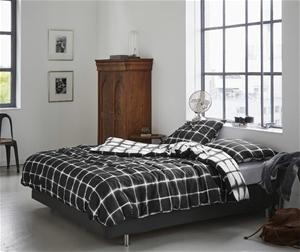 Printed Quilt Cover Set Black/White Chec