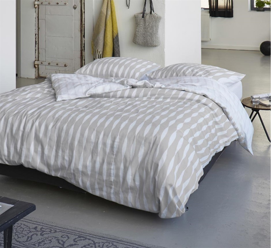 Printed Quilt Cover Set Macy - DOUBLE