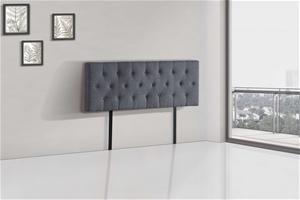 Linen Fabric Queen Bed Deluxe Headboard