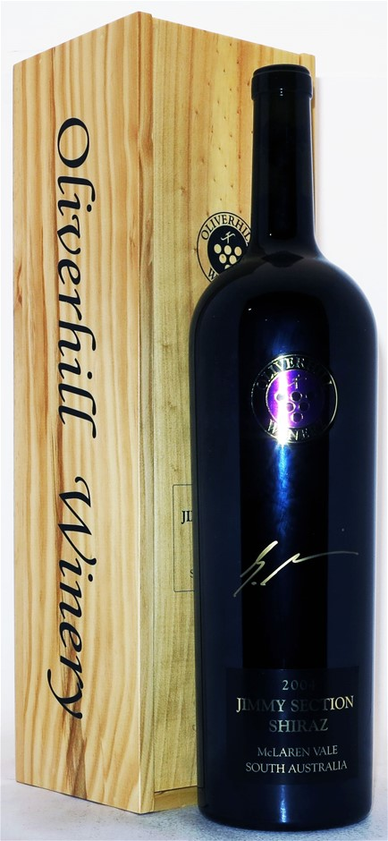 Oliverhill `Jimmy Section` Shiraz 2004 (1 x 3L Boxed), McLaren Vale, SA.