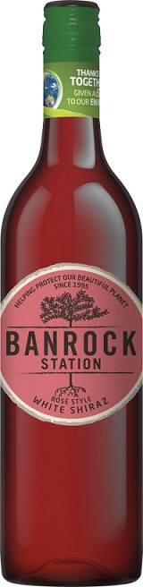 Banrock Station White Shiraz Rose 2017 (6 x 750mL), SA.