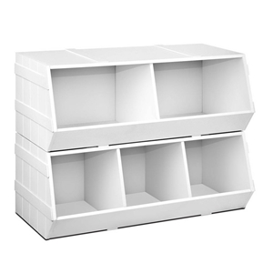 Keezi Kids Toy Box Stackable Bookshelf S