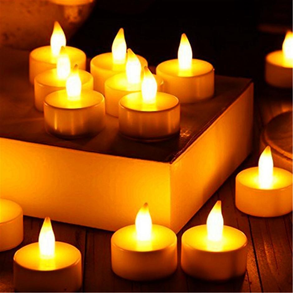 60 X LED Flameless Tealight Candles Wedding Decoration Battery Inc. 3000K