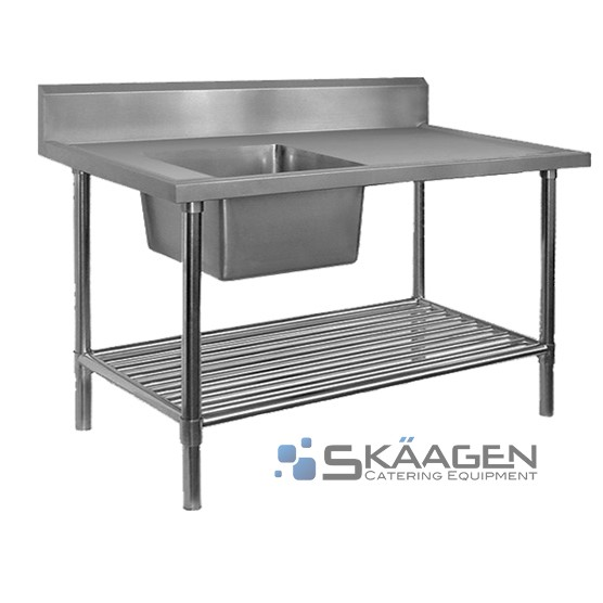 Unused Stainless Steel Sink 1500 x 600 Left positioning Dimension