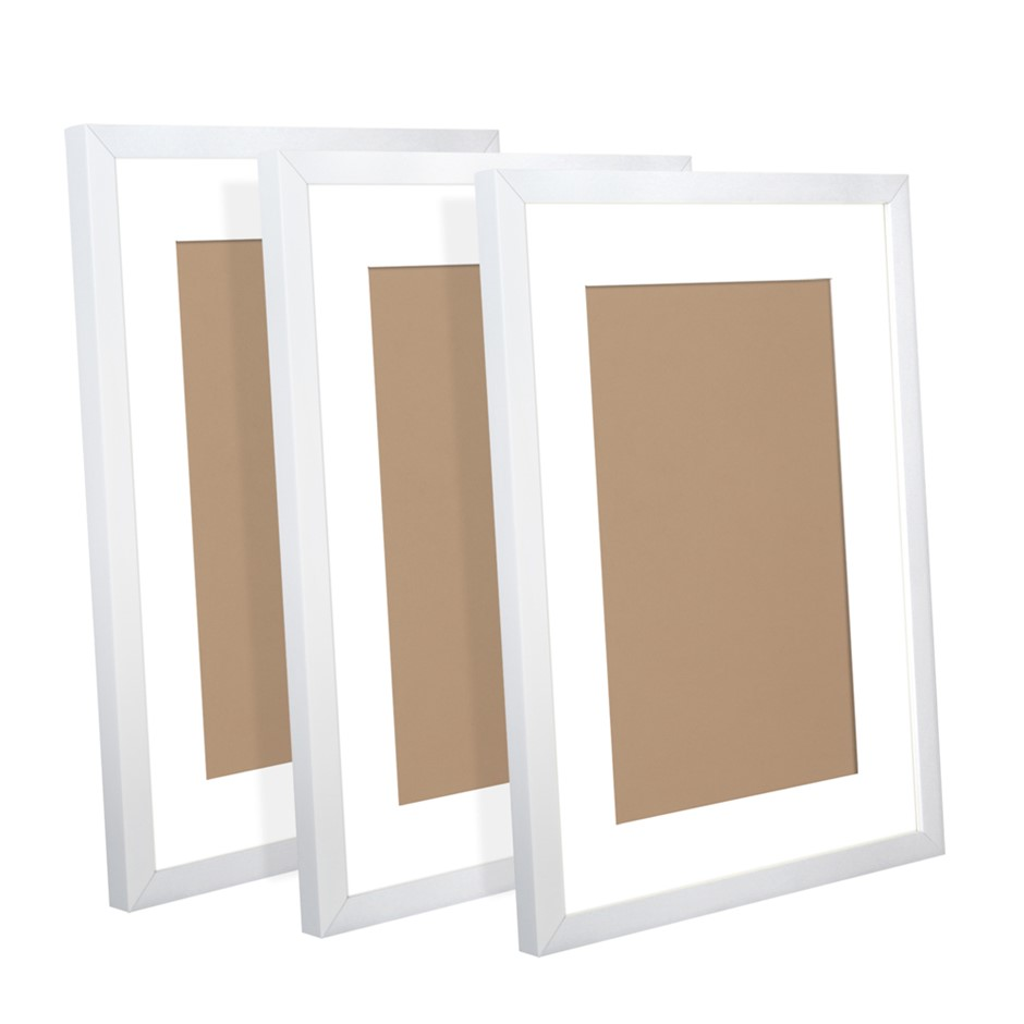 3 Piece Photo Frames Set - White