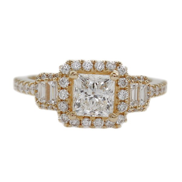 GIA Certified 18ct Yellow Gold, 1.61ct Diamond Engagement Ring