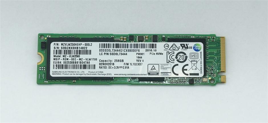 Samsung PCIe NVMe M.2 2280 256GB SSD Part Number: MZVLW256HEHP-000L2