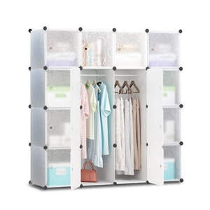 16 Cube Portable Storage Cabinet Wardrob