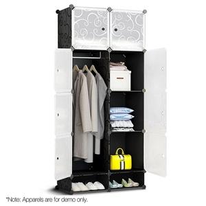10 Cube DIY Storage Cabinet Wardrobe - B