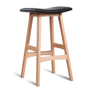 Artiss Set of 2 Beech Wood Bar Stools -