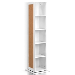 Artiss 5 Shelf Rotating Cabinet Storage