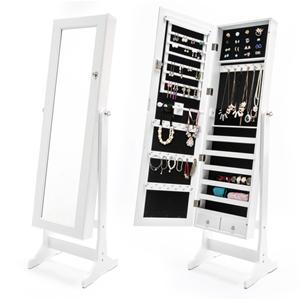 Mirror Jewellery Cabinet 2x Drawer LOWE