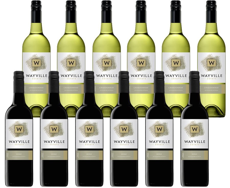 Wayville Estate Chardonnay & Shiraz (12 x 750mL) Mixed Pack