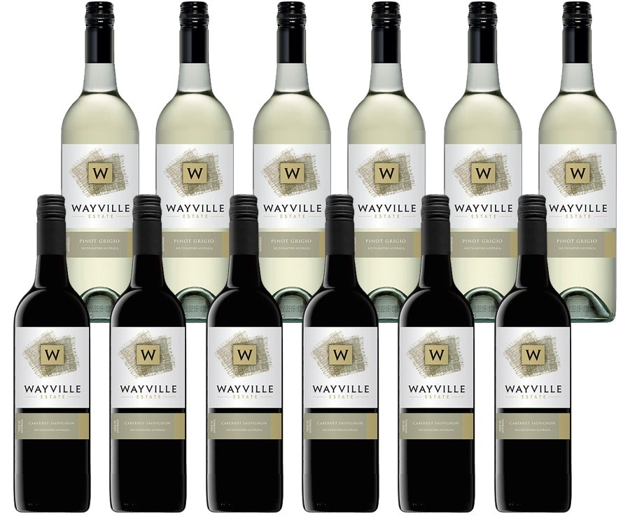 Wayville Estate Pinot Grigio & Cabernet Sauvignon (12 x 750mL) Mixed Pack