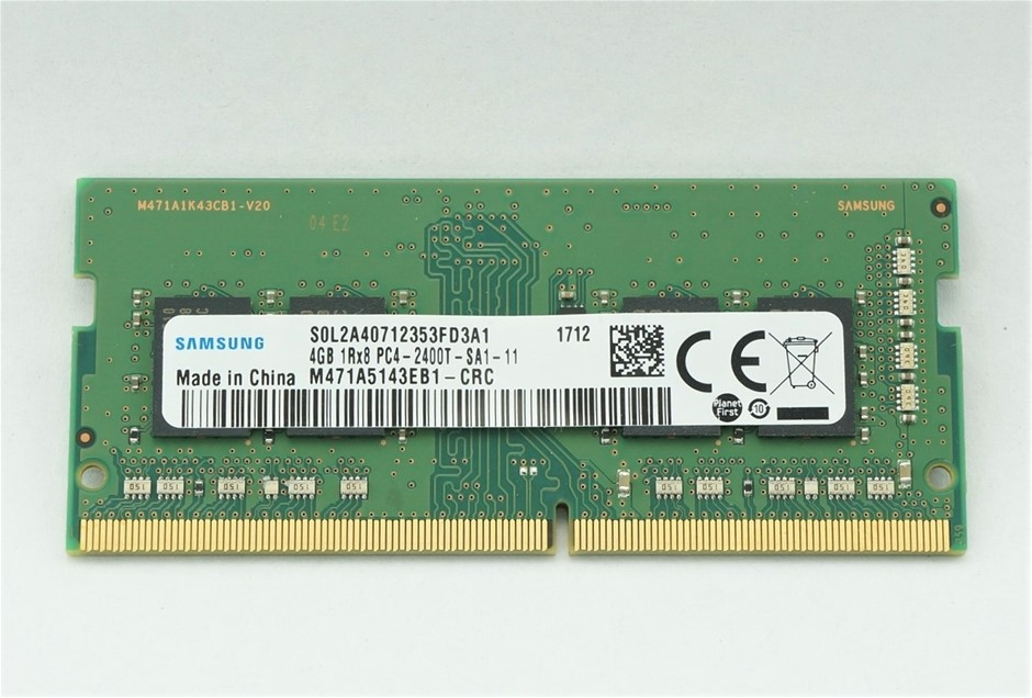 Samsung 4GB DDR4 PC4-2400T SO-DIMM Double-Sided 8-Chip Memory Module