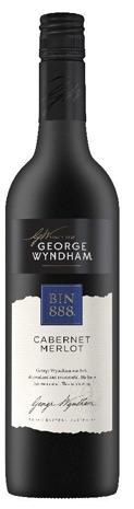 George Wyndham `Bin 888` Cabernet Merlot 2017 (6 x 750mL), SE AUS.