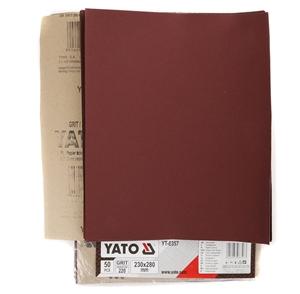 YATO 50 Sheets Sand Paper Grit 220 , Siz
