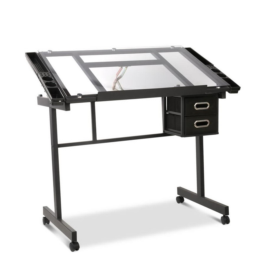 Adjule Drawing Desk Black And Grey