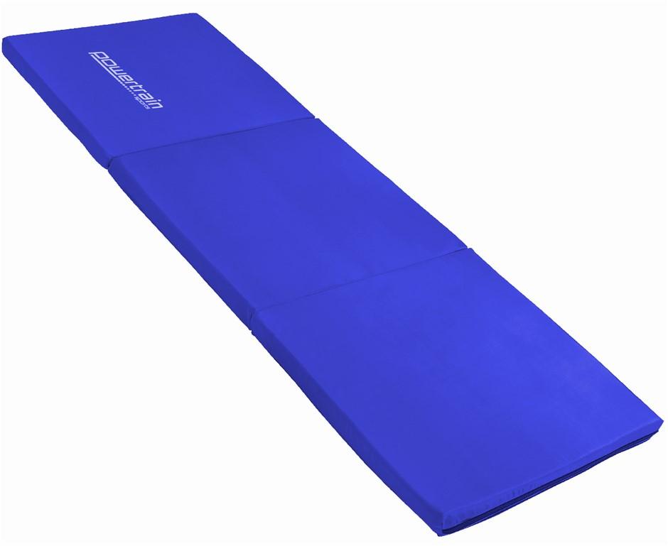 Powertrain Tri-fold Yoga Exercise Mat - Blue