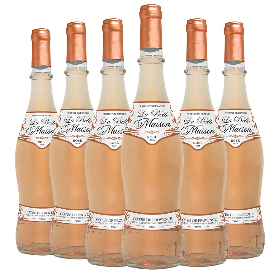 La Belle Maison Rosé 2016 (6 x 750mL), France. Cork