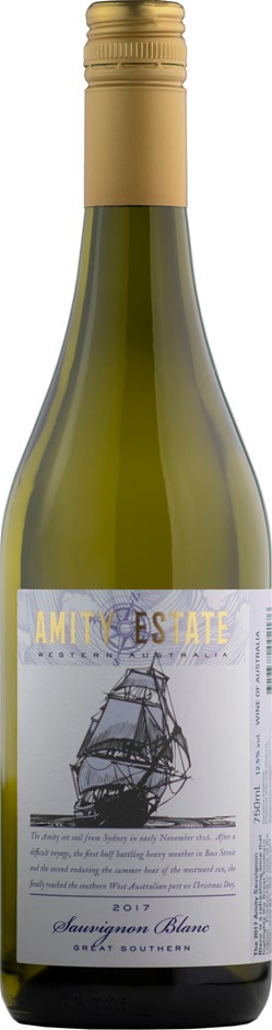 Amity Estate Sauvignon Blanc 2017 (12 x 750mL) Great Southern, WA