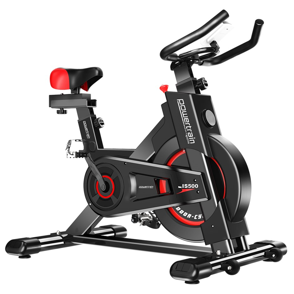Powertrain Heavy Duty Exercise Spin Bike Electroplated - Black