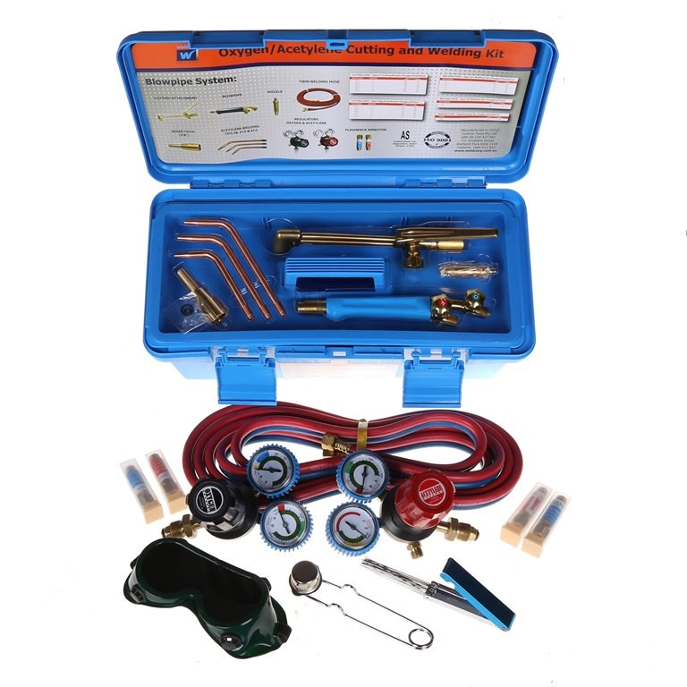 WELDCORP Oxy/Acetylene Cutting & Welding Kit c/w Blowpipe, Cutting Torch, 3